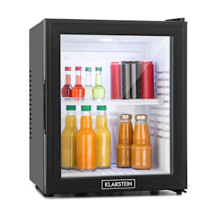 MKS-13 Mini-Refrigerador de Minibar | temperatura ajustável: 3 níveis | iluminação interior | volume: 30L | ruído de funcionamento: 23 dB | porta de vidro duplo isolado