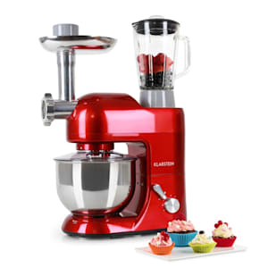 Lucia Rossa Stand Mixer Meat Mincer Mixer 1300 W - Red