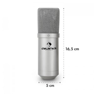 MIC-900S USB Cardioid Studio Condenser Microphone Silver
