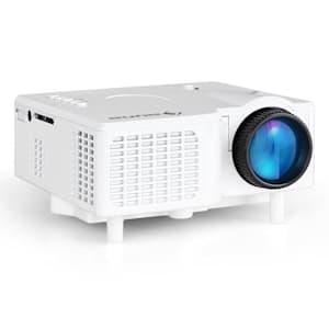 LCDP Projektor LED Mini-Beamer Weiß VGA AV