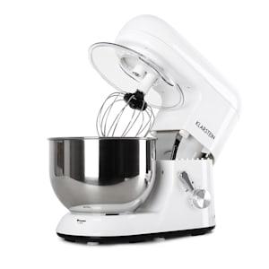 Bella Küchenmaschine Rührmaschine | 2000 Watt / 2,7 PS | 5,2 Liter Edelstahlschüssel | für bis zu 2 Liter Teig | 6 Stufen | Pulsfunktion | Rührhaken / Knethaken / Schneebesen | Spritzschutz | BPA-frei