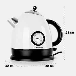Aquavita Bouilloire électrique 1,5l 2200W -blanche