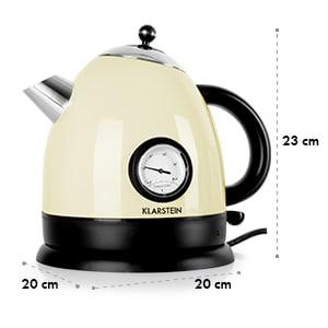 Klarstein TK7-Aquavita-Cream, rychlovarná konvice, 1,5 l, 2200W