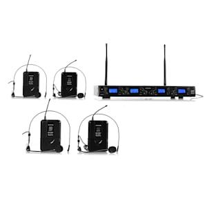 UHF-550-2 Quartett2 4-Kanal UHF-Funkmikrofon-Set
