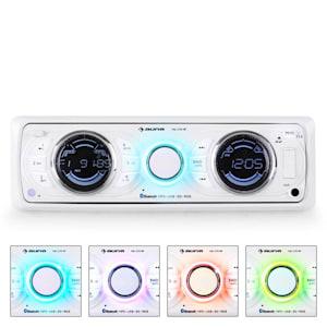 MD-170-BT Autoradio MP3 USB SD RDS AUX Bluetooth -blanc