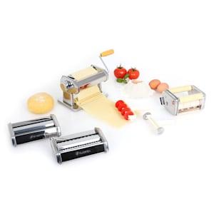 Siena Argentea Pasta Maker Nudelmaschine 3 Aufsätze Edelstahl silber