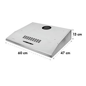 UW60SR Hotte aspirante acier extraction 60cm 165 m³/h