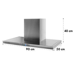 Digestor Klarstein RC90WS, ušľachtilá oceľ, 90 cm, 637 m3/h