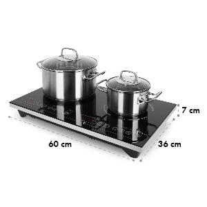 Klarstein VariCook XL dvojna indukcijska plošča, 3100 W, časovnik, 240°C, upravljanje na dotik