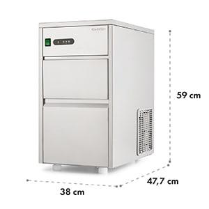 Powericer XL, ipari jégkocka készítő gép, 145 W, 20 kg/nap, rozsdamentes acél