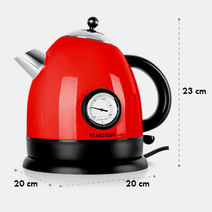 Aquavita Bouilloire électrique 1,5l 2200W -rouge