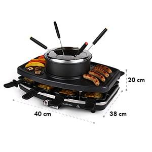 Entrecote grill raclette fondue 1100W 8 personnes