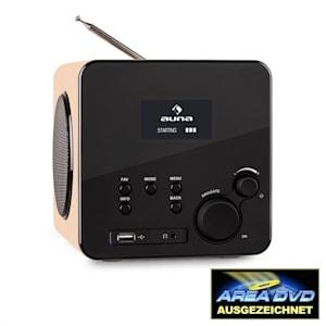 Radio Gaga Internetradio WLAN/LAN DAB/DAB+ UKW USB AUX ahorn