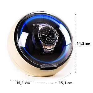 St.Gallen Deux portaorologi LED 4 modalità di rotazione color crema