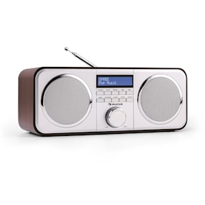 Georgia radio DAB+ sintonizador radio wifi FM AUX marrón oscuro