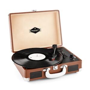 Peggy Sue Retro-Plattenspieler LP USB braun