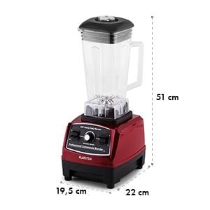 Herakles 2G Power-Mixer 1200W 1,6PS 32.000U/min BPA-frei 2l rot