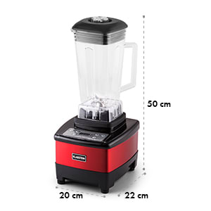 Herakles 4G Mixeur blender sans BPA 2L 1500w 35000t/mn -rouge