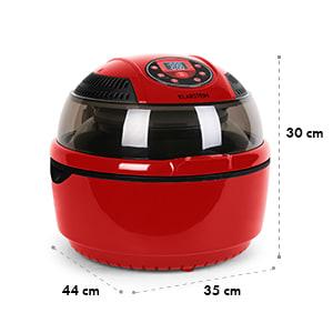 VitAir Heteluchtfriteuse 1400W Grillen Bakken 9 liter rood