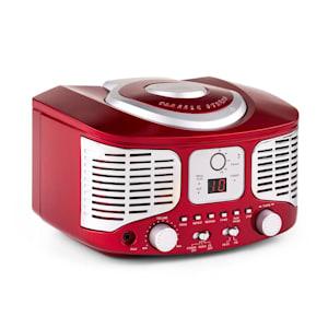 RCD320 Lecteur CD rétro FM AUX -rouge
