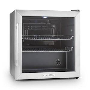 Klarstein Beersafe L kylskåp 50 liter klass B glasdörr rostfritt stål