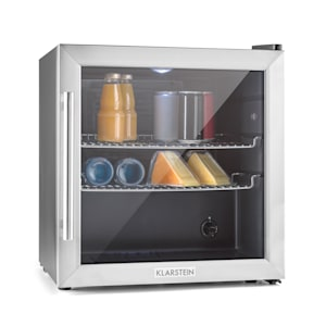 Beersafe L Refrigerator Beverages refrigerator | volume: 47 litres | 2 chrome-plated metal shelves | interior temperature adjustable by degrees from 3 to 10 °C | rotary switch | double-insulated glass door | free-standing | LED | stainless steel front