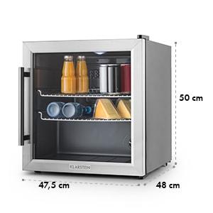 Beersafe L Kühlschrank 47Liter Klasse A+ Glastür Edelstahl