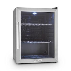 Klarstein Beersafe XL kylskåp 60 liter klass A ++ glasdörr rostfritt stål
