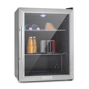 Réfrigérateur Beersafe L Réfrigérateur à boissons | Volume : 60 litres | 2 étagères en métal chromé | Température intérieure réglable par degrés de 3 à 10 °C | Interrupteur rotatif | Porte en verre à double isolation
