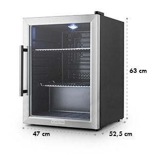 Beersafe XL Réfrigérateur 60 litres porte en verre 2 étages Classe A++