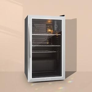 Beersafe XXL mini nevera frigorifico pequeño puerta vidrio 85 L negro