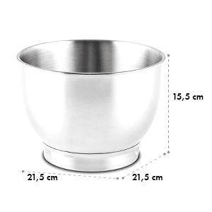 Serena Bowl jaloteräskulho lisäosa 4,3 litraa