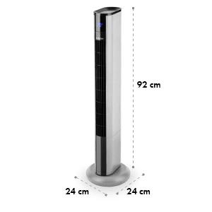 Skyscraper 3G ventilateur tour 48 W débit 1633 m³/h panneau tactile argent