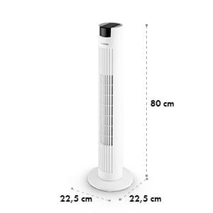 Skyscraper 2G, stĺpový ventilátor s dotykovým ovládaním, 40 W, diaľkový ovládač, biely