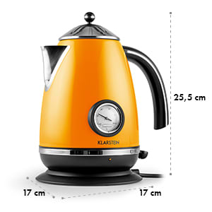 Aquavita Chalet Bollitore D'Acqua 1,7 Litri 2200W Arancione