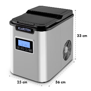 Klarstein ICE6 Icemeister, naprava za pripravo ledenih kock, 12 kg / 24 h., Iz nerjavečega jekla, črna
