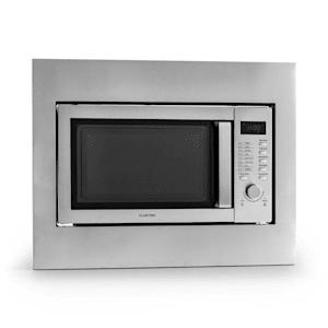 Klarstein Steelwave kuchenka mikrofalowa 23l 800W grill 1000W stal nierdzewna ramka do zabudowy