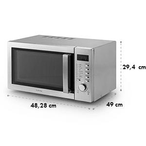 Steelwave magnetron 23l 1000W grill 1000W inbouw