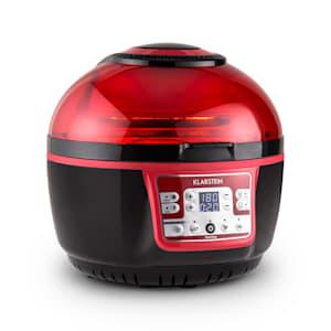 VitAir Turbo Hot Air Fryer 1400W Grilling Baking - Red Black