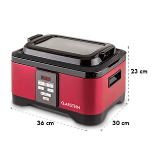 Tastemaker cuiseur sous-vide Slow Cooker 6L 550 W rouge