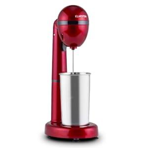 van Damme Mixeur boissons 100W 450 ml contenant acier rouge