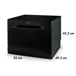 Amazonia 6 Table Dishwasher A+ 1380W 6 Place Settings 49 dB Black