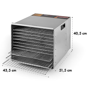 Fruit Jerky Pro 10 10-Tiered Stainless Steel Food Dehydrator 1000 W