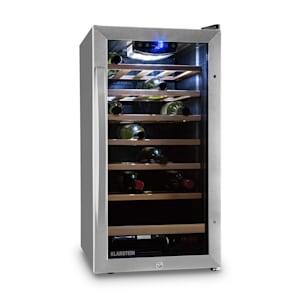 Vinamour 26 Uno Frigorífico de vinho | 88 litros | 26 garrafas | Painel de controlo por toque | 6 gavetas de madeira | Iluminação interior LED | Aço inoxidável