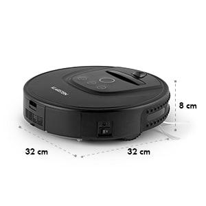 Cleanhero Robot aspirateur Automatique Télécommande noir