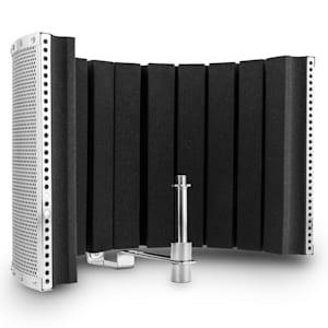 MP32 MKII Mikrofon-Schirm Mic Screen Absorber Diffusor inkl. Adapter silber