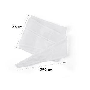 Tesnenie okien pre mobilné klimatizácie, 3.9 m, zips, upínacia páska
