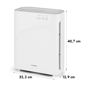 Vita Pure 2G Purificateur d'air ioniseur filtre 5x55W UV-C Touch blanc