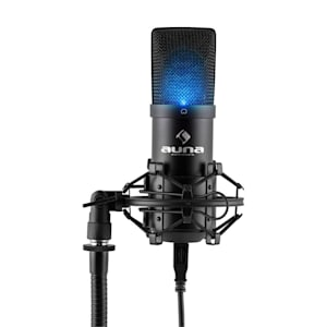 MIC-900 LED USB Cardioid Studio Condenser Microphone LED Black