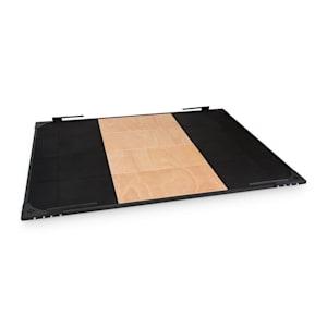 Smashboard Weightlifting Platform 2x2,5 m schwarz Stahl Lauanholz